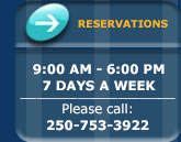 Reservations: 9AM -6PM